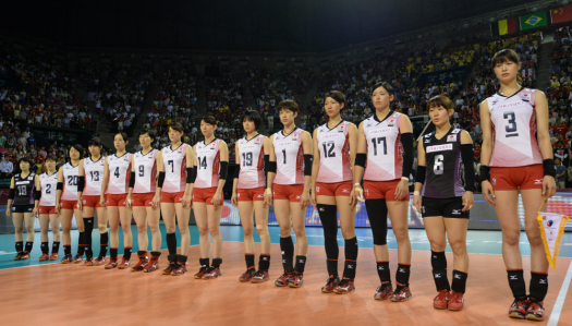 Pic from FIVB with real Japanese volleyball players! I dunno what happened to the men's team though